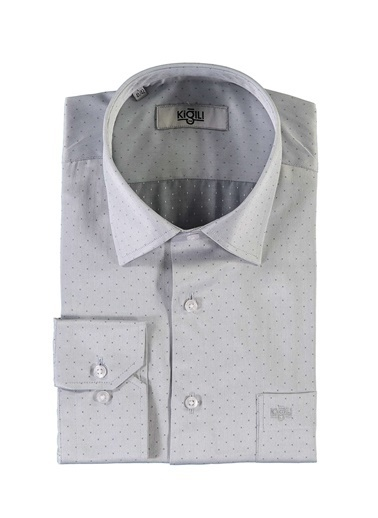 Kiğılı Klasik Gömlek Gri